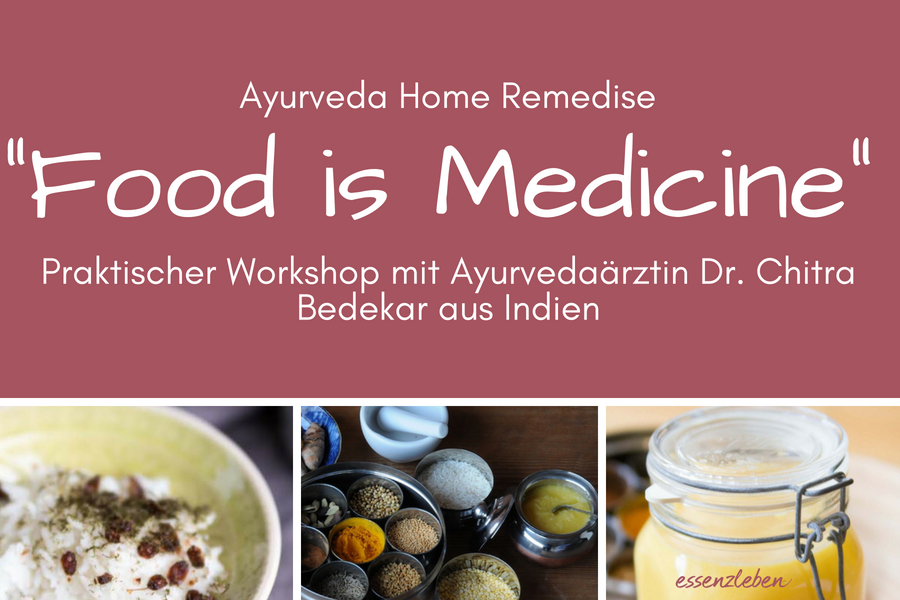 Food is Medicine, ein Ayurvedaworkshop mit der Ayurvedaärztin Dr. Chitra Bedekar aus Indien